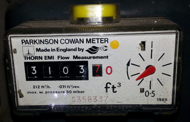 how to read gas meter reading